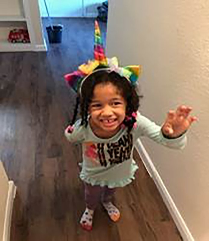 This undated photo released by the Houston Police Department shows Maleah Davis. Houston police are trying to determine what happened to the 4-year-old girl after the ex-fiance of her mother said she was taken by men who released him and his 2-year-old son after abducting them as well. An Amber Alert was issued Sunday morning, May 7, 2019, for Maleah Davis. (Houston Police Department via AP)