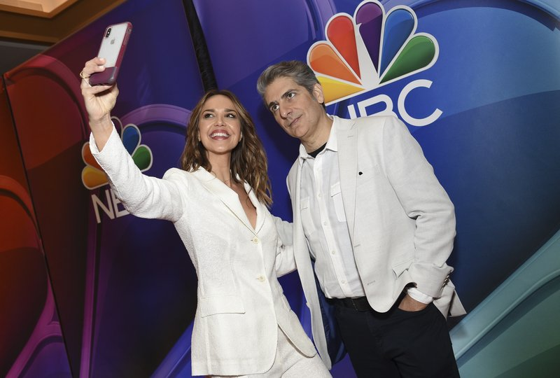 Arielle Kebbel, left, and Michael Imperioli, from the cast of