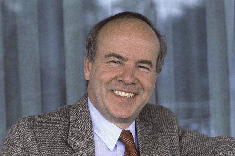 FILE - A Feb. 15, 1983 file photo shows comedian Tim Conway. Conway, the stellar second banana to Carol Burnett who won four Emmy Awards on her TV variety show, died Tuesday, May 14, 2019, after a long illness in Los Angeles, according to his publicist. (AP Photo/WF, File)