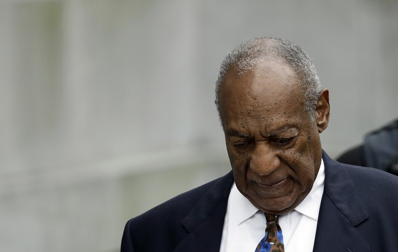 In this Sept. 24, 2018, file photo, Bill Cosby departs after a sentencing hearing at the Montgomery County Courthouse in Norristown, Pa. (AP Photo/Matt Slocum)