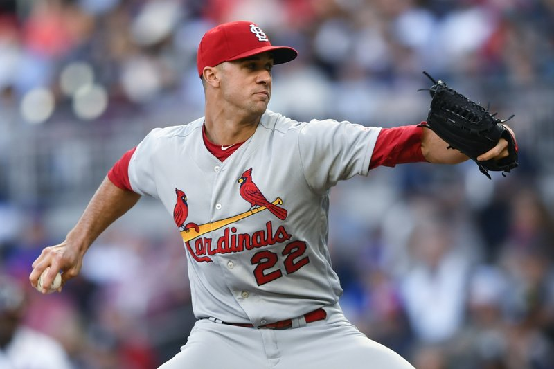 St. Louis Cardinals' Jack Flaherty pitches against the Atlanta Braves during the first inning of a baseball game Tuesday, May 14, 2019, in Atlanta. (AP Photo/John Amis)