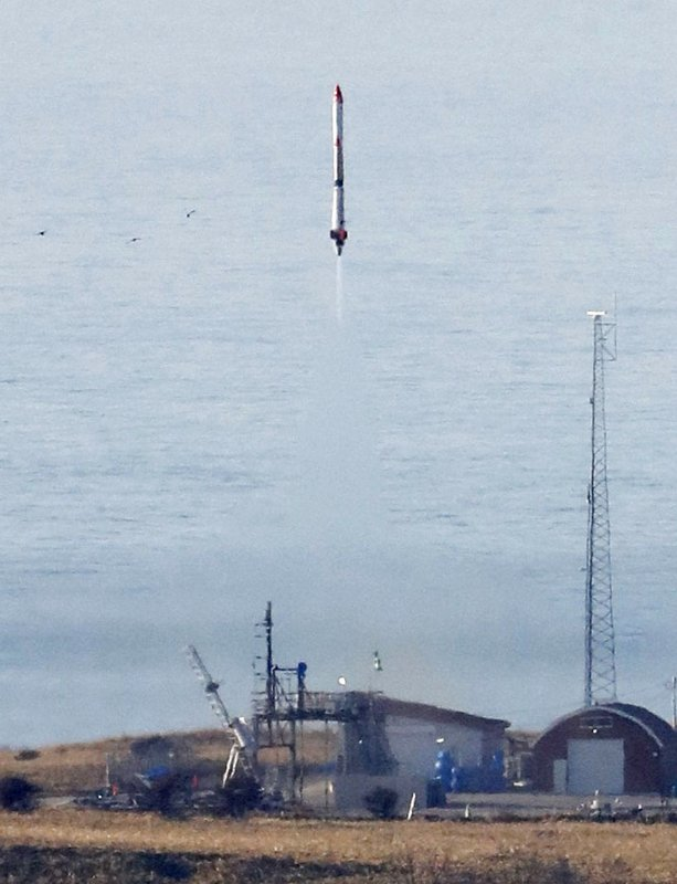 FILE - In this May 4, 2019, file photo, the unmanned MOMO-3 rocket lifts off in Taiki, Hokkaido, northern Japan. (Kyodo News via AP, File)