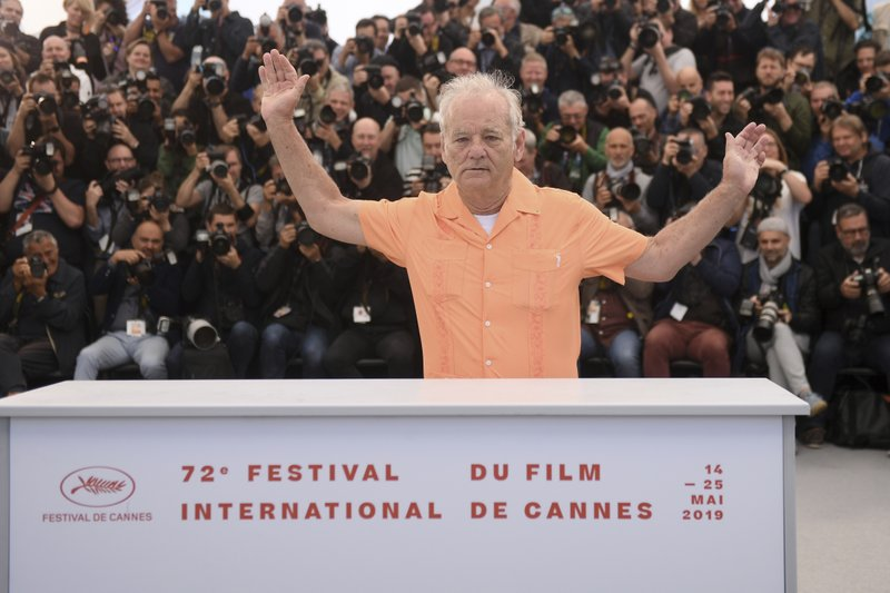 Actor Bill Murray poses for photographers at the photo call for the film 'The Dead Don't Die' at the 72nd international film festival, Cannes, southern France, Wednesday, May 15, 2019. (Photo by Arthur Mola/Invision/AP)