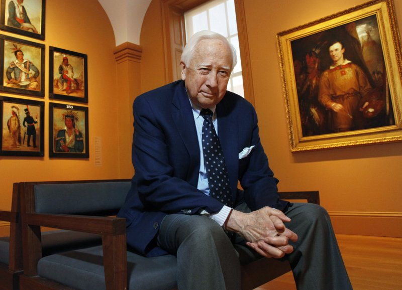 FILE - In this May 13, 2011 file photo, historian and author David McCullough poses at the National Portrait Gallery, in Washington. (AP Photo/Jacquelyn Martin, File)