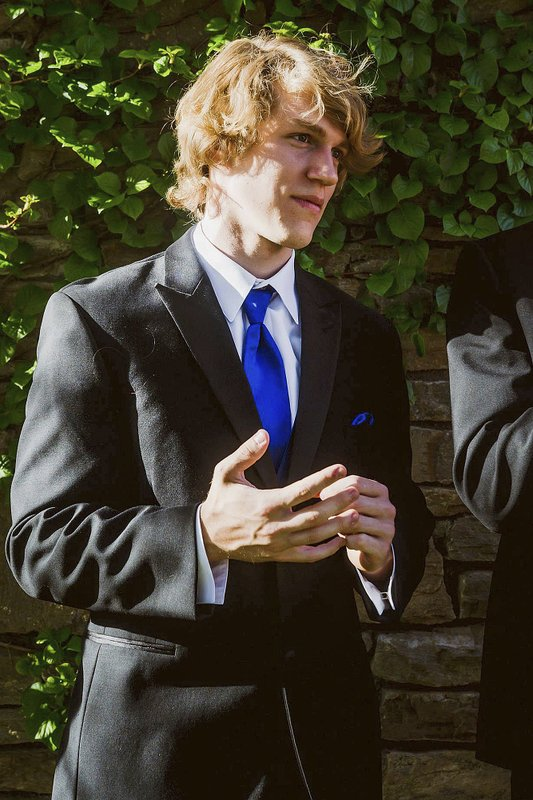FILE - This undated file photo provided by Matthew Westmoreland shows Riley Howell. A North Carolina police department has honored college student Howell and his family after he was killed when a gunman opened fire inside a classroom. (Matthew Westmoreland via AP, File)