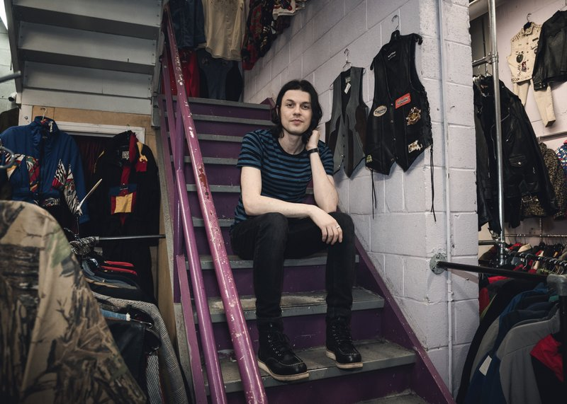 This May 13, 2019 photo shows James Bay at Metropolis Vintage NYC in New York. (Photo by Christopher Smith/Invision/AP)