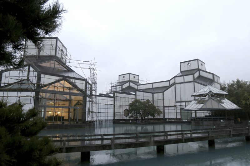 In this Jan. 11, 2019, photo, the Suzhou Museum, designed by Chinese-American architect I.M. Pei, is seen in Suzhou in eastern China's Jiangsu Province. Pei, the versatile, globe-trotting architect who revived the Louvre with a giant glass pyramid and captured the spirit of rebellion at the multi-shaped Rock and Roll Hall of Fame, has died at age 102, a spokesman confirmed Thursday, May 16, 2019. (Chinatopix via AP)