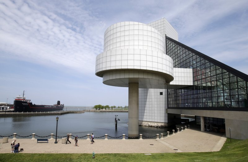 FILE - This May 21, 2013, file photo shows the exterior of the Rock and Roll Hall of Fame in Cleveland, designed by architect I.M. Pei. Pei, the globe-trotting architect who revived the Louvre museum in Paris with a giant glass pyramid and captured the spirit of rebellion at the multi-shaped Rock and Roll Hall of Fame, has died at age 102, a spokesman confirmed Thursday, May 16, 2019. (AP Photo/Mark Duncan, File)