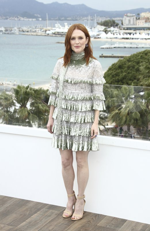 Actress Julianne Moore poses for photographers at the photo call for the film 'The Staggering Girl' at the 72nd international film festival, Cannes, southern France, Friday, May 17, 2019. (Photo by Joel C Ryan/Invision/AP)
