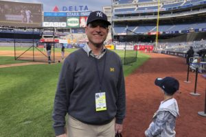 3 generations of Harbaughs make 1st visit to Yankee Stadium