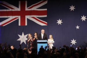Australia's conservative coalition wins surprise 3rd term