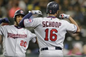 Cron, Schoop homer twice in Twins 18-4 rout of Mariners