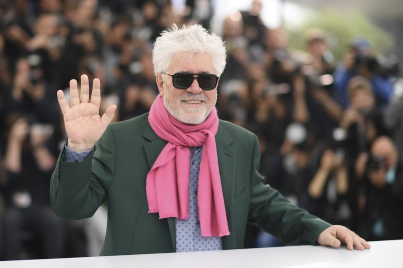 Director Pedro Almodovar poses for photographers at the photo call for the film 'Pain and Glory' at the 72nd international film festival, Cannes, southern France, Saturday, May 18, 2019. (Photo by Arthur Mola/Invision/AP)