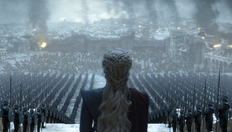 This image released by HBO shows Emilia Clarke in a scene from the series finale of