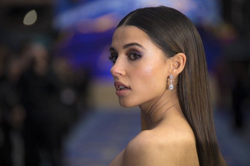 Actress Naomi Scott poses for photographers upon arrival at the 'Aladdin' European Gala premiere in London, Thursday, May 9, 2019. (Photo by Joel C Ryan/Invision/AP)