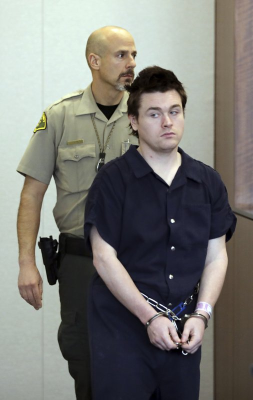 "In this Feb. 28, 2019, photo, Christopher W. Cleary, 27, makes a court appearance in Provo, Utah. Cleary's arrest for posting a Facebook threat to kill ""as many girls as I see"" fit a pattern of behavior for a troubled man with a history of terrorizing women he met over the internet. Cleary's plea deal with Utah prosecutors fits a pattern of lenient punishments common for cyberstalking and online harassment cases. A judge who is scheduled to sentence Cleary on Thursday, May 23, must decide whether to accept prosecutors' recommended sentence of probation. (AP Photo/Rick Bowmer, Pool)"