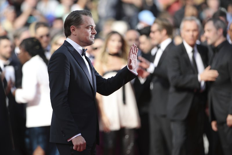 Actor Leonardo DiCaprio poses for photographers upon arrival at the premiere of the film 'Once Upon a Time in Hollywood' at the 72nd international film festival, Cannes, southern France, Tuesday, May 21, 2019. (AP Photo/Petros Giannakouris)