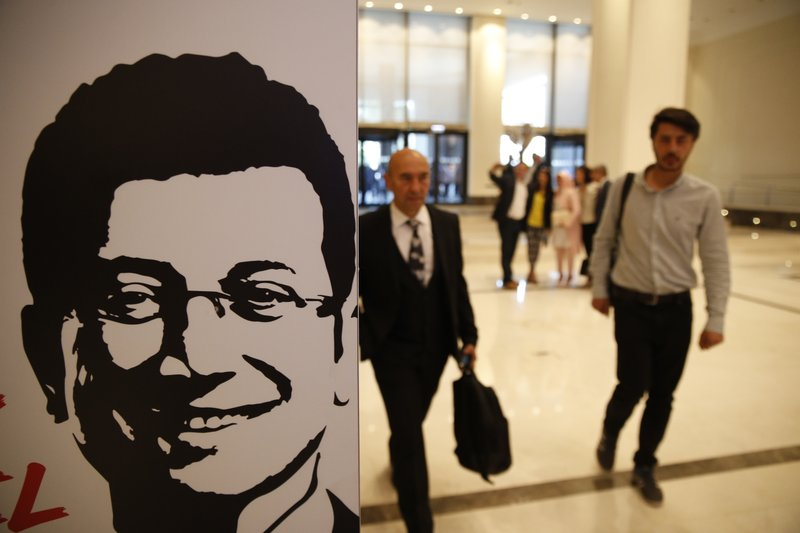 Supporters of Ekrem Imamoglu, Turkey's opposition, Republican People's Party's (CHP) mayoral candidate for Istanbul arrive for his speech at the launch of his campaign for the June 23 re-run elections, in Istanbul, Wednesday, May 22, 2019. Imamoglu, promising he would win back the seat after Turkey's electoral board ruled to void the local polls earlier this month, is running a positive messaging campaign under the motto