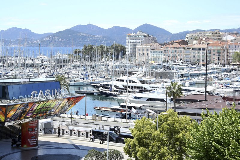 Boats appear in the harbor where the Cannes Film Festival will be held in Southern France on May 13. (Photo by Joel C Ryan/Invision/AP)