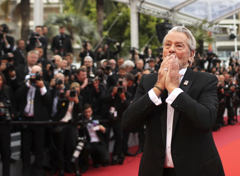 French actor Alain Delon arrives at the premiere of