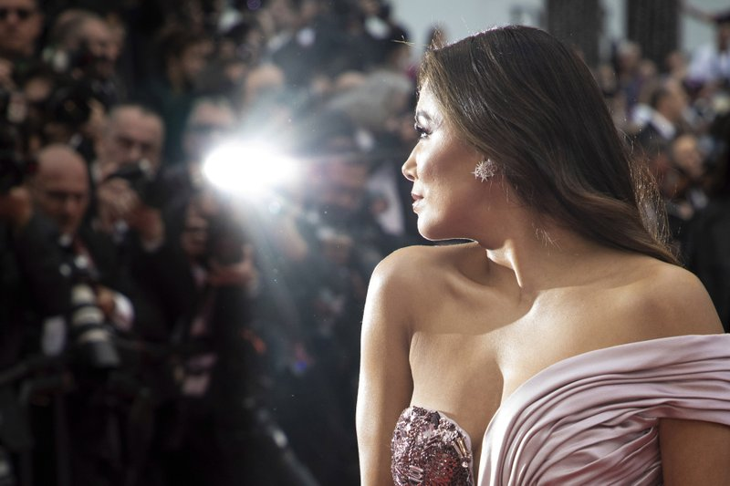 American actress Eva Longoria arrives at the opening ceremony and the premiere of