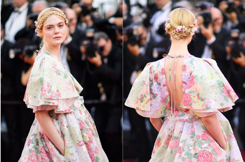 This combination photo shows jury member Elle Fanning at the premiere of