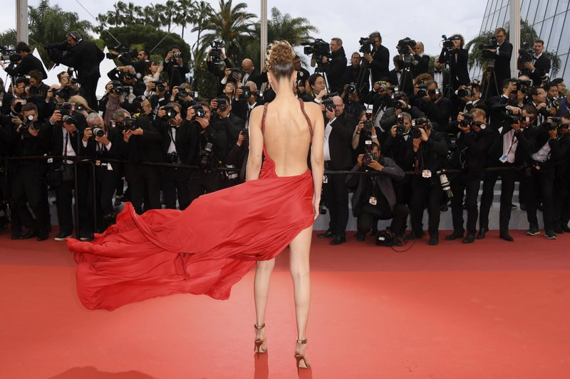 American model Bella Hadid appears at the premiere of