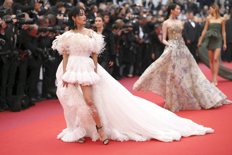 Actress Xin Zhilei arrives at the premiere of