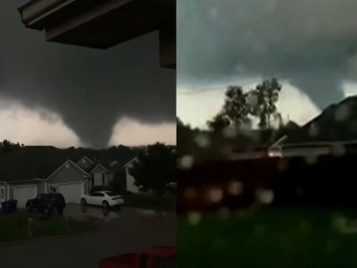 A tornado skirted just a few miles north of Joplin, Missouri, on the eighth anniversary of a catastrophic tornado that killed 161 people in the city. The tornado caused damage in the nearby town of Carl Junction. (May 23)