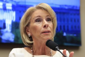 Devos becoming a favorite foe for Democrats on 2020 trail