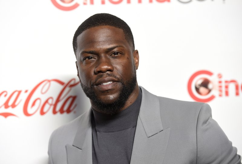 FILE - In this April 4, 2019 file photo, Kevin Hart, recipient of the CinemaCon international star of the year award, poses at the Big Screen Achievement Awards at Caesars Palace in Las Vegas.Kim Kardashian West isn't the only celebrity speaking out for prison reform. It's a topic that was also very important to slain rapper Nipsey Hussle, and to Common, Hart and a host of others who consider the criminal justice system often unfair and dehumanizing. (Photo by Chris Pizzello/Invision/AP, File)