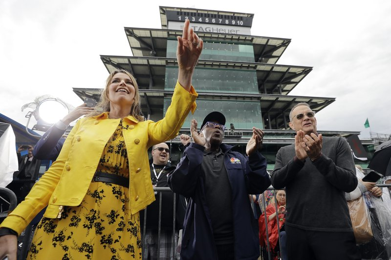 Savannah Guthrie, Al Roker and Tom Hanks, from left, listen as Sheryl Crow performs on NBC's
