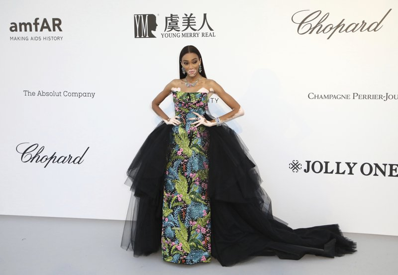 Model Winnie Harlow poses for photographers upon arrival at the amfAR, Cinema Against AIDS, benefit at the Hotel du Cap-Eden-Roc, during the 72nd international Cannes film festival, in Cap d'Antibes, southern France, Thursday, May 23, 2019. (Photo by Vianney Le Caer/Invision/AP)