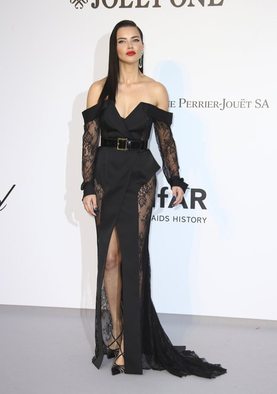 Model Adriana Lima poses for photographers upon arrival at the amfAR, Cinema Against AIDS, benefit at the Hotel du Cap-Eden-Roc, during the 72nd international Cannes film festival, in Cap d'Antibes, southern France, Thursday, May 23, 2019. (Photo by Joel C Ryan/Invision/AP)
