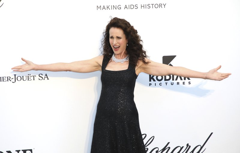 Actress Andie MacDowell poses for photographers upon arrival at the amfAR, Cinema Against AIDS, benefit at the Hotel du Cap-Eden-Roc, during the 72nd international Cannes film festival, in Cap d'Antibes, southern France, Thursday, May 23, 2019. (Photo by Vianney Le Caer/Invision/AP)