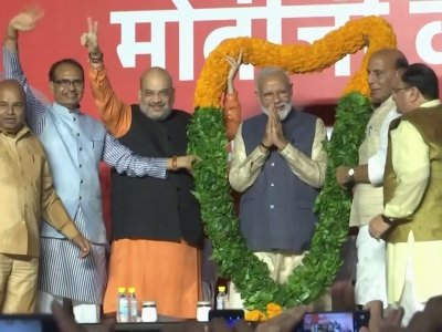 Charismatic but polarizing Prime Minister Narendra Modi has surged to a landslide victory in Indian elections. (May 24)