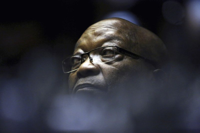 Former South African President Jacob Zuma sits in the High Court in Pietermaritzburg, South Africa, Friday, May 24, 2019. Zuma is in court facing charges of corruption, money laundering and racketeering. (Photo/Thuli Dlamini - Pool via AP)