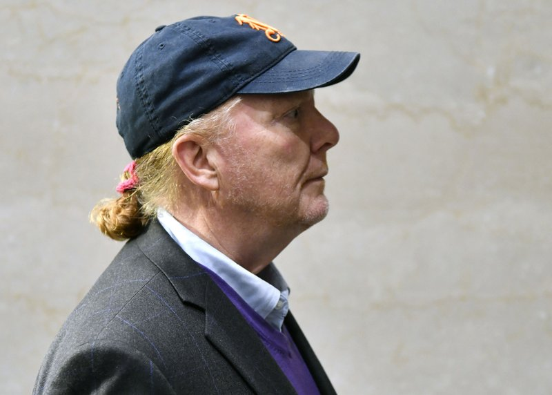 Mario Batali arrives for arraignment, Friday, May 24, 2019, at municipal court in Boston, on charges he forcibly kissed and groped a woman at a Boston restaurant in 2017. (AP Photo/Josh Reynolds)