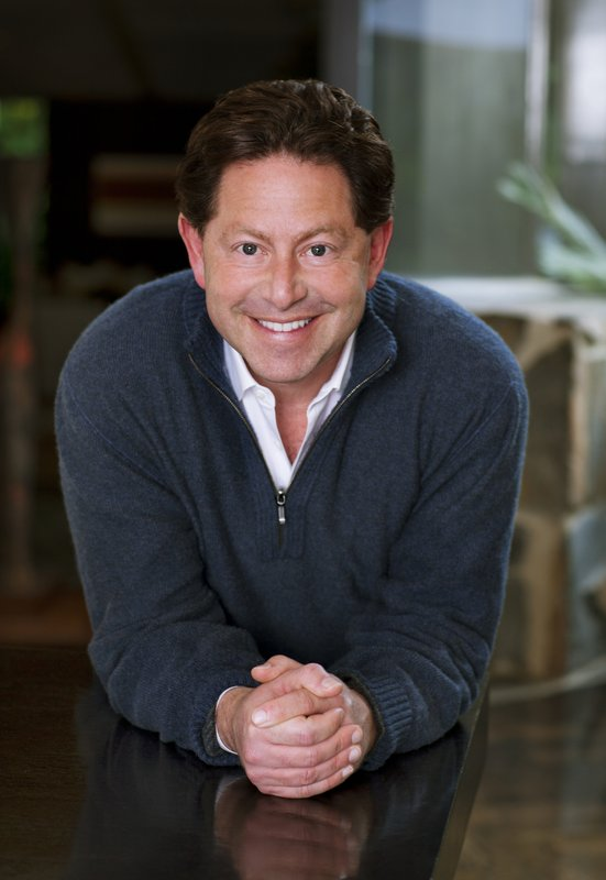 In this undated photo provided by Activision Blizzard company CEO Bobby Kotick poses for a photo. Kotick the ninth-highest paid CEO at big U.S. companies for 2018, as calculated by The Associated Press and Equilar, an executive data firm. He made $30.8 million. (Activision Blizzard via AP)