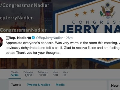 U.S. Rep. Jerrold Nadler was taken to a hospital for an evaluation Friday after he appeared to swoon during a news conference in New York City. (May 24)