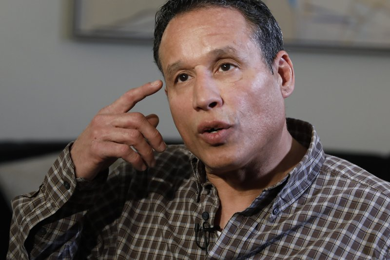 Ray Luna, 56, from Poughkeepsie, N.Y., is interviewed in New York, Tuesday, April 30, 2019. Suffering abuse as a scout in the 1970s, he says,