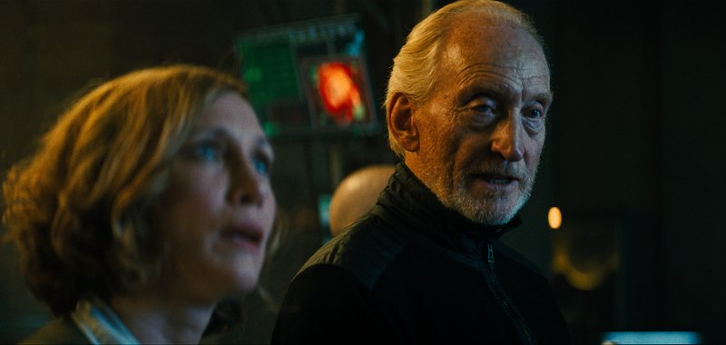 This image released by Warner Bros. Pictures shows Vera Farmiga, left, and Charles Dance in a scene from