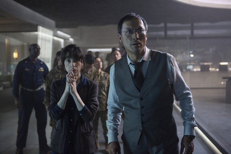 This image released by Warner Bros. Pictures shows Sally Hawkins, left, and Ken Watanabe in a scene from