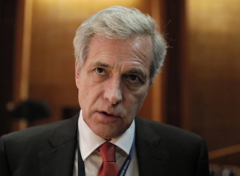 FILE - In this Nov. 29, 2018, file photo, William Hurlbut of Stanford University speaks to reporters during the Human Genome Editing Conference in Hong Kong. A fertility clinic in the United Arab Emirates city of Dubai emailed scientist He Jiankui to seek training in gene editing, six months after a He was widely scorned for helping to make the world's first gene-edited babies, Hurlbut said ahead of a speech Tuesday, May 28, 2019, at the World Science Festival in New York. (AP Photo/Vincent Yu, File)