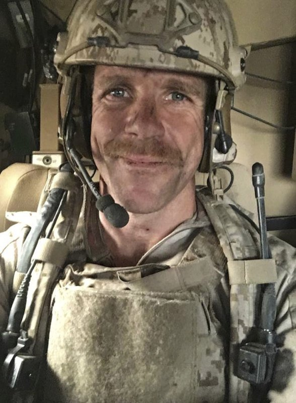 This undated selfie photo provided by Andrea Gallagher shows her husband, Navy SEAL Edward Gallagher, who has been charged with murder in the 2017 death of an Iraqi war prisoner. Lawyers for Gallagher are seeking to have the charges dismissed for alleged prosecutorial misconduct. Attorneys for Special Operations Chief Gallagher are scheduled to argue in military court Wednesday, May 29, 2019, that the case against him has been tainted by lies, withholding evidence and conducting surveillance on the defense. (Edward Gallagher via AP)