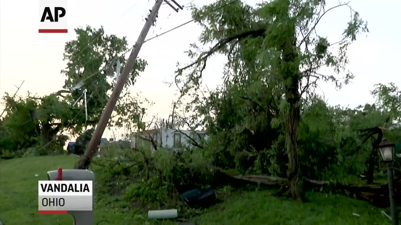 A series of apparent tornadoes hit Dayton, Ohio and its surrounding communities Monday, leaving a trail of destruction but no reported deaths or serious injuries thus far. Francis Dutmers of Vandalia, Ohio says he and his wife 'were lucky'. (May 28)