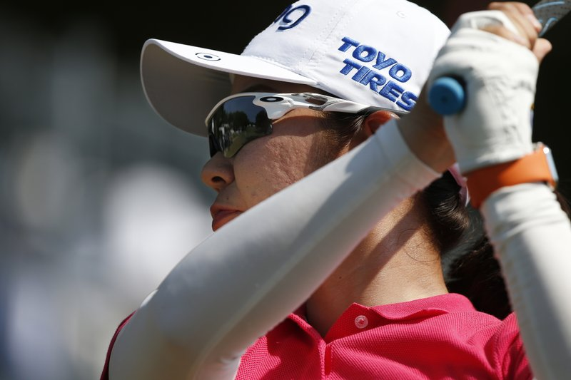 Mamiko Higa of Japan, 12th tee during the first round of the U.S. Women's Open golf tournament, Thursday, May 30, 2019, in Charleston, S.C. (AP Photo/Mic Smith)