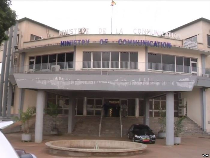Cameroon ministry of communication located in Yaounde, Cameroon. May 2, 2019