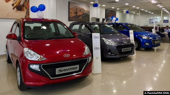 Like other carmakers, the Hyundai showroom in Gurgaon has witnessed a decline