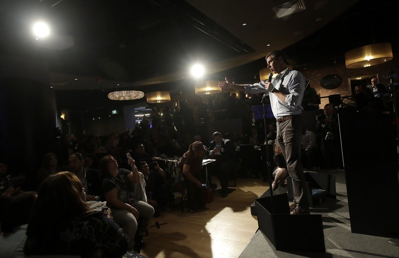 Democratic presidential candidate and former Texas Congressman Beto O'Rourke speaks at an SEIU event before the 2019 California Democratic Party State Organizing Convention in San Francisco, Saturday, June 1, 2019. (AP Photo/Jeff Chiu)